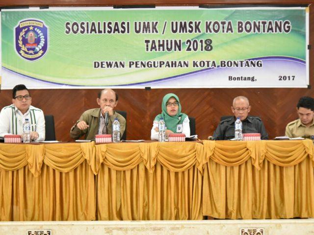 Sosialisasi UMK di Kota Bontang Tahun 2018