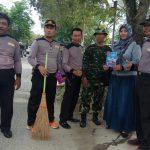 Peringati Bulan Bakti Gotong Royong, Kecamatan Bontang Utara Gelar Kerja Bakti
