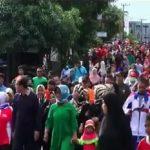 Walikota Bontang Gelar Pembukaan Gala Desa Tahun 2018 dengan Senam dan Jalan Sehat Bersama Masyarakat