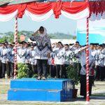 Peringati Hari Guru Nasional 2018 dan HUT PGRI ke-73, Pemkot Bontang Gelar Upacara